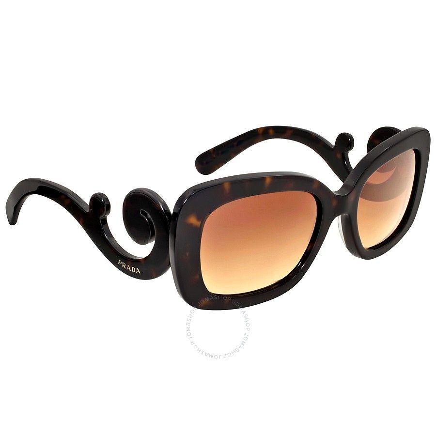 317f2ef1c8e  140.76 Prada Minimal Baroque Tortoise Sunglasses PR 27OS-2AU6S1-54 - Prada  - Sunglasses - Jomashop