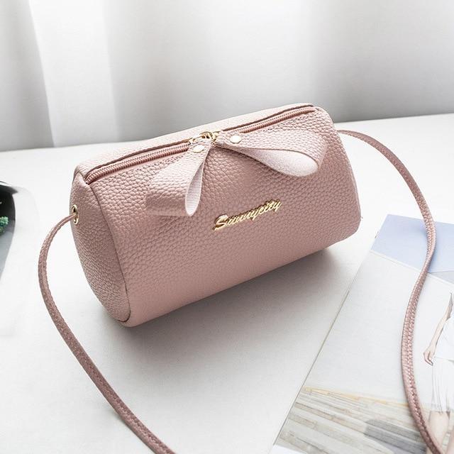 Ladies PU Leather Cross Body Messenger Bag Women Shoulder Bag Tote Small Handbag