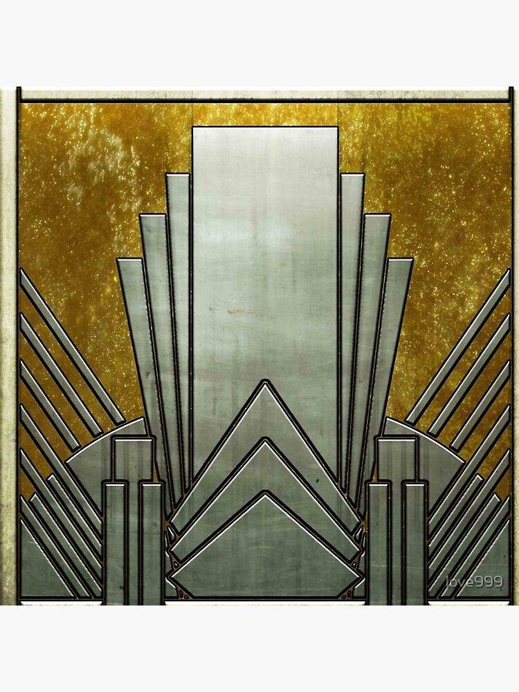 'Art deco,gold,black,geometric,metallic,digital photo,original,pattern,vintage,1920 era' Floor Pillow by love999