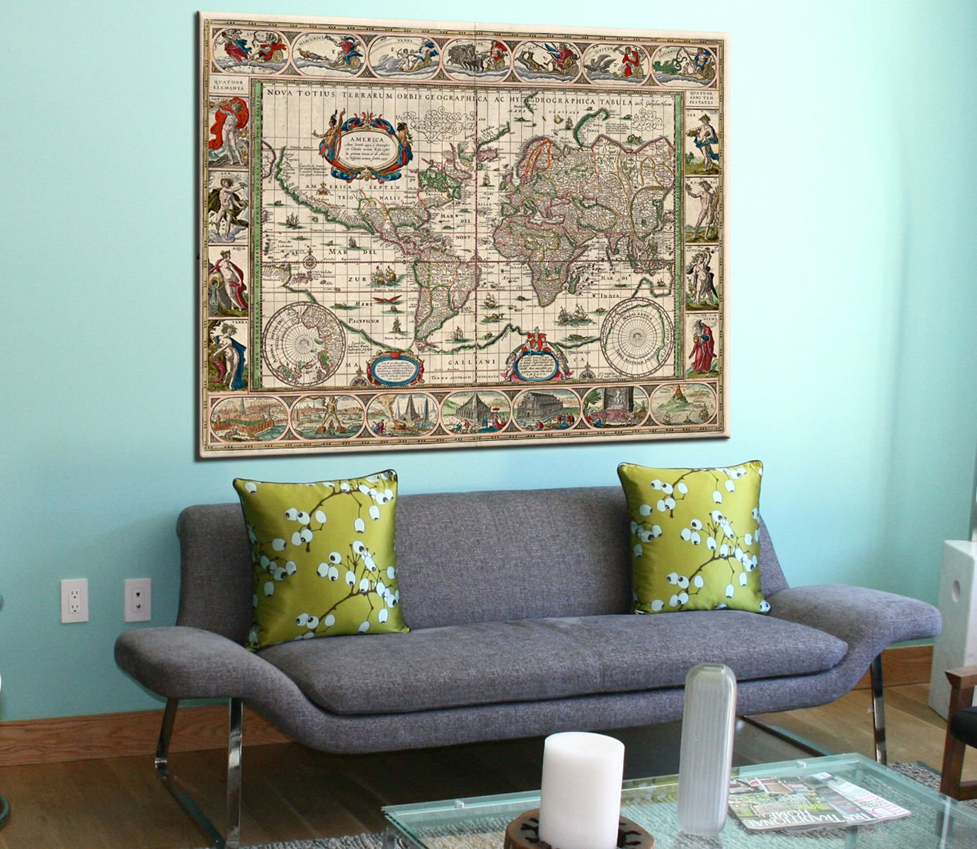 Large old world map canvas panels set ancient world map print large old world map canvas panels set ancient world map print vintage world map gumiabroncs Image collections