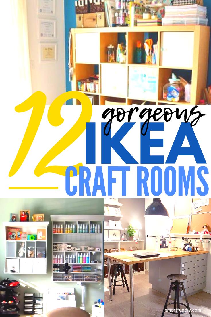 12 Amazing Ikea Craft Room Ideas Ikea Craft Room Ikea Crafts Craft Room Decor