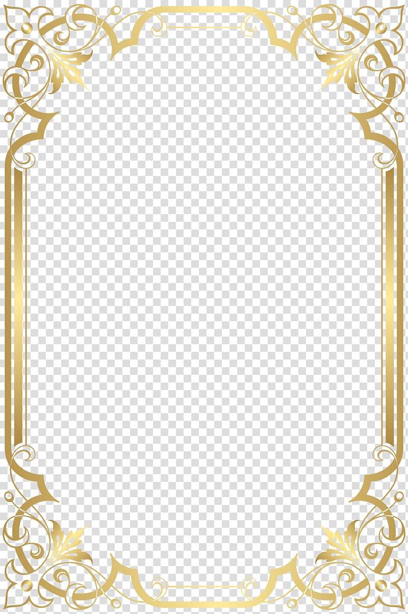 Paper Graphic Film Border Frame Illustration Of Gold Frame Transparent Background Png Clipart Contoh Undangan Pernikahan Bingkai Foto Kartu
