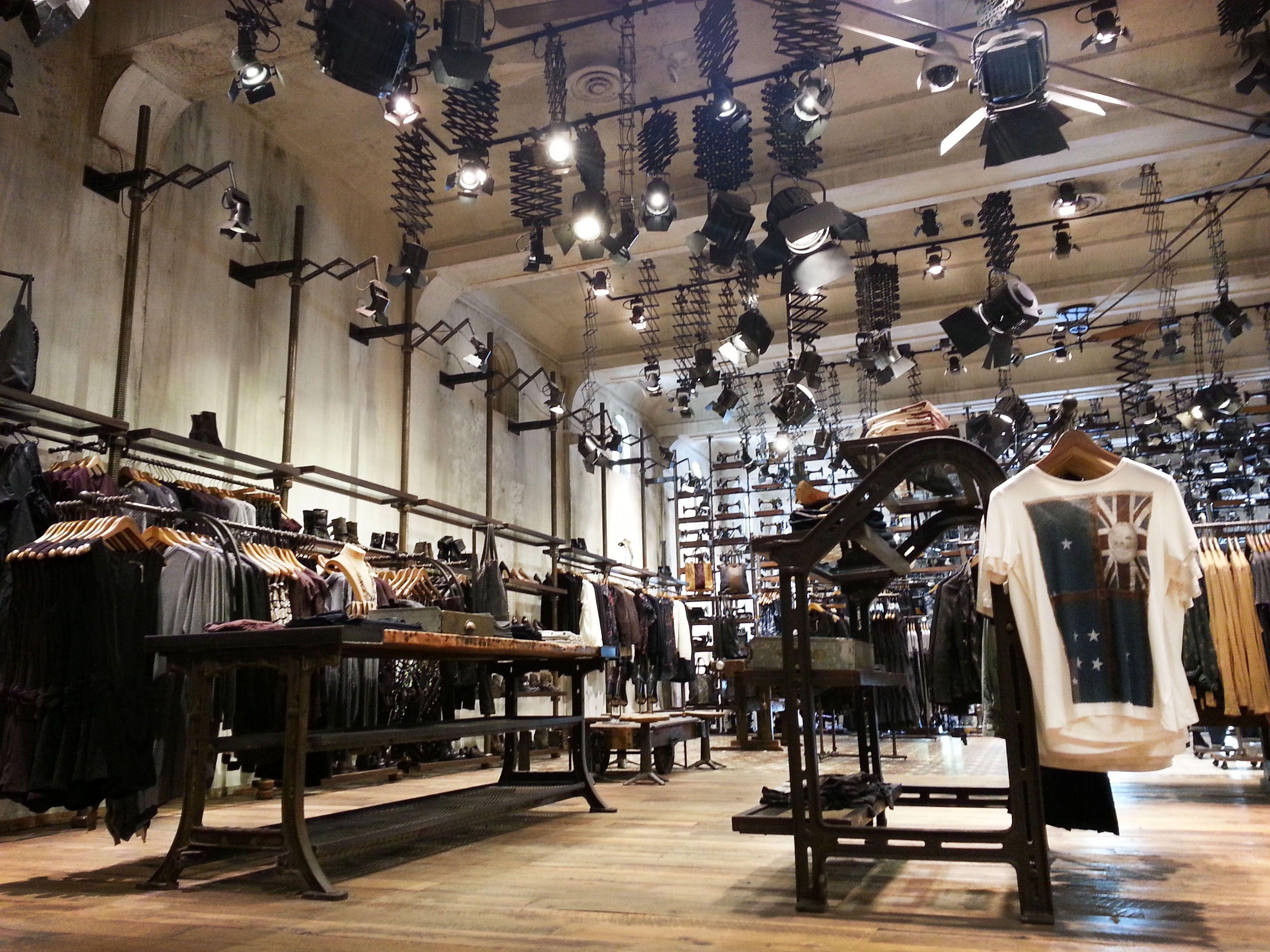 All saints retail environment
