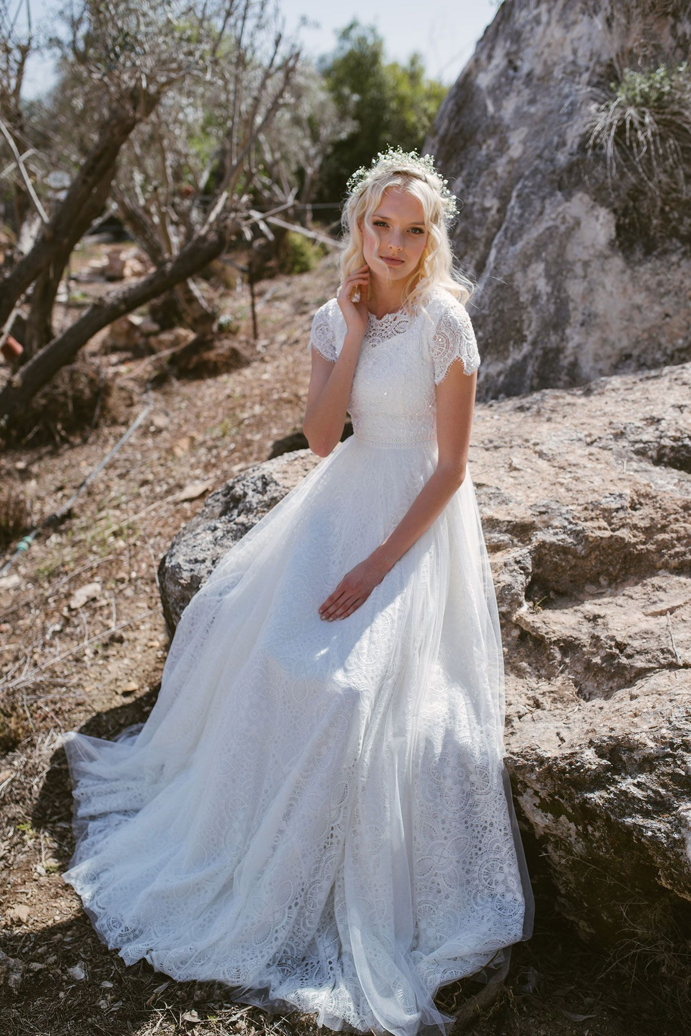 """Mia Pava """"Bloom 2017"""" Bridal Collection  Gown by Mia Pava  Photo by Natalie Schor  www.miapava.com"""