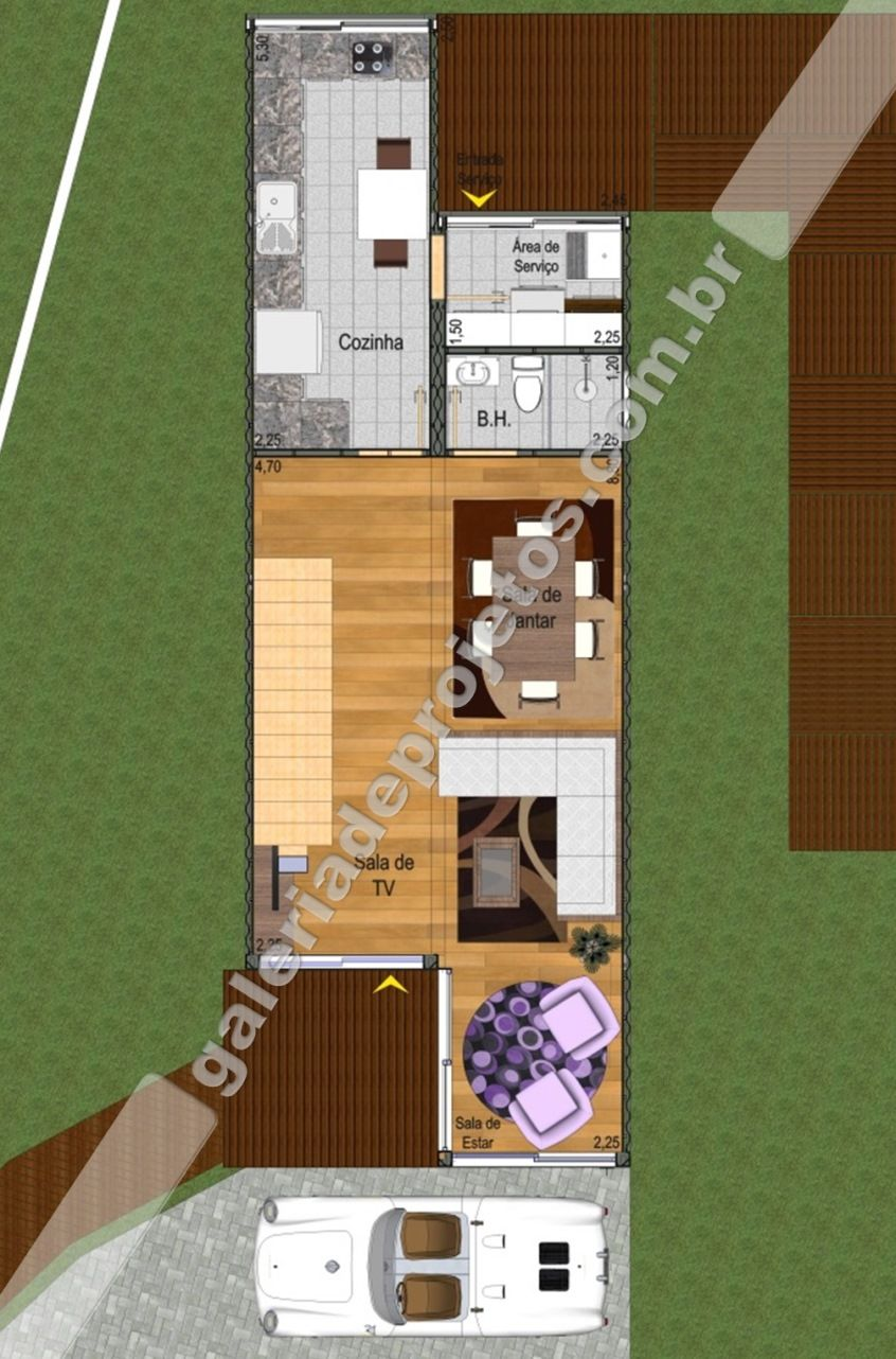Fabuloso Cód.022 - Projeto Casa Container - 2 Quartos e 1 Suíte - Galeria  NA29