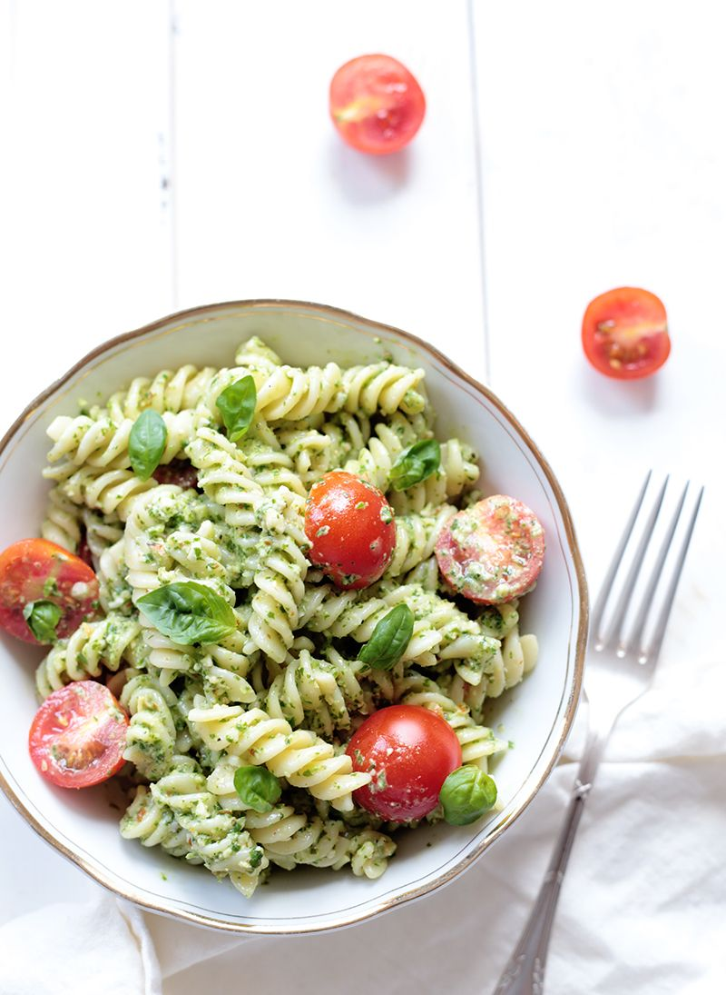 Quick Vegan Pesto Pasta
