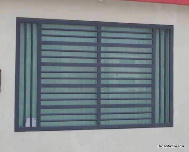 Imagen de diseño de verjas de fierro de ventana contemporánea