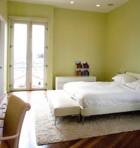 lovely green wall bedroom ideas for decoration - home