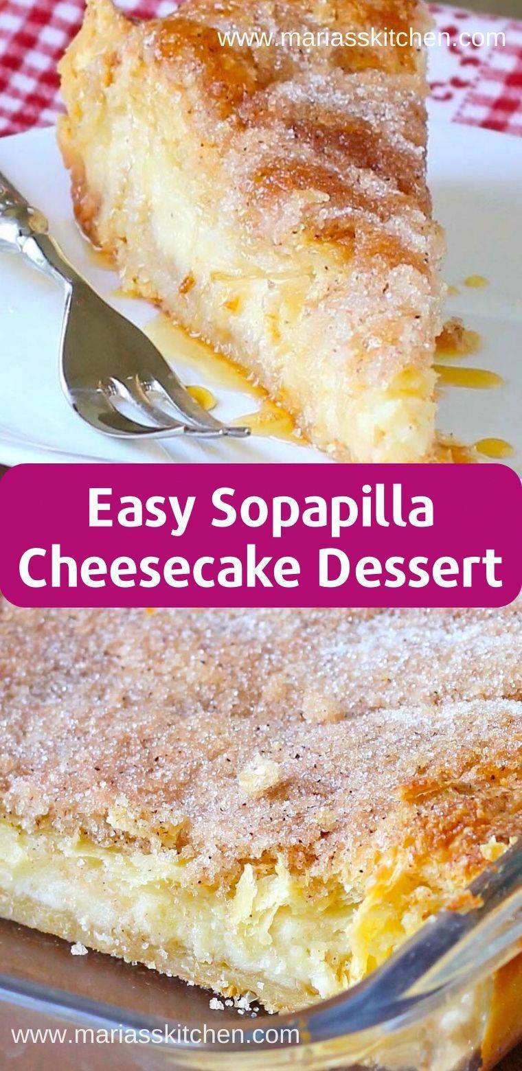 Easy Sopapilla Cheesecake Dessert Recipe #dessertrecipes #cheesecake #desserts #cheesecakedessertseasy
