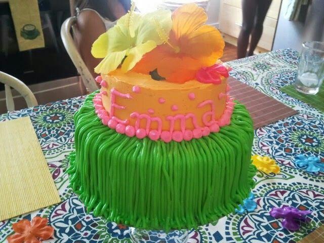 Hawaiian Girls Birthday Cake By Alana Alanas Cakes Pinterest
