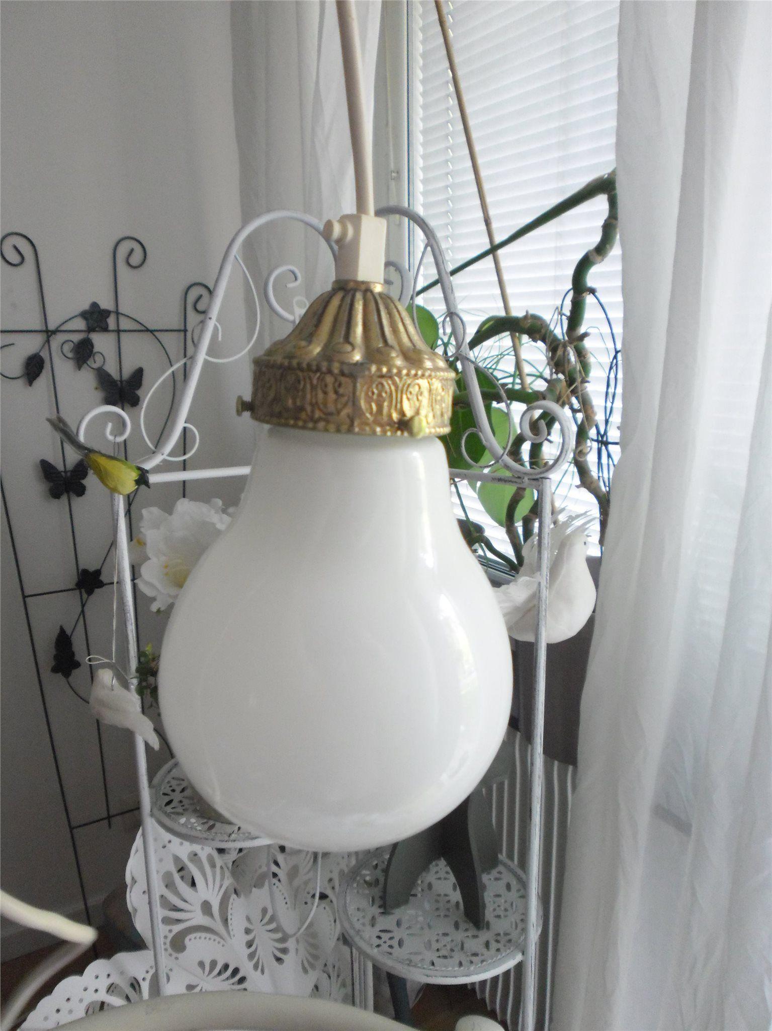 Annons på Tradera: Lampa fönsterlampa halllampa taklampa vit