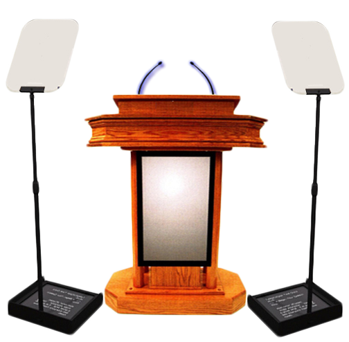 Smart Orator Is A State Of The Art Presidential Teleprompter That Enables A Speaker To Deliver Speech Electronically Interactive Presentation The Orator Podium