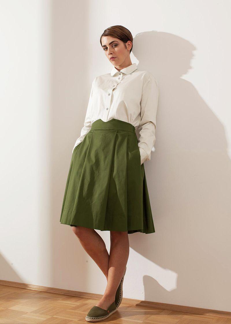 Entdecke diesen eleganten Faltenrock im angesagten 50er ...