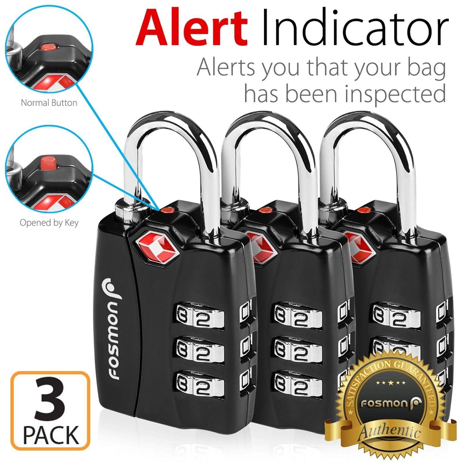 3xtsa Approve 3 Digit Combination Travel Suitcase Luggage Bag Lock Padlock Reset Suitcase Traveling Tsa Luggage Lock Must Have Travel Accessories