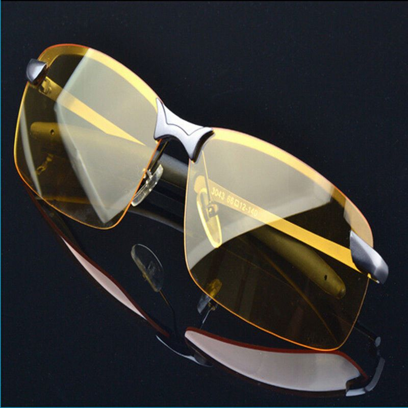 ba06a8df49 UV400 HD Night Vision Polarized Glasses Aviator Driving Sunglasses Eyewear