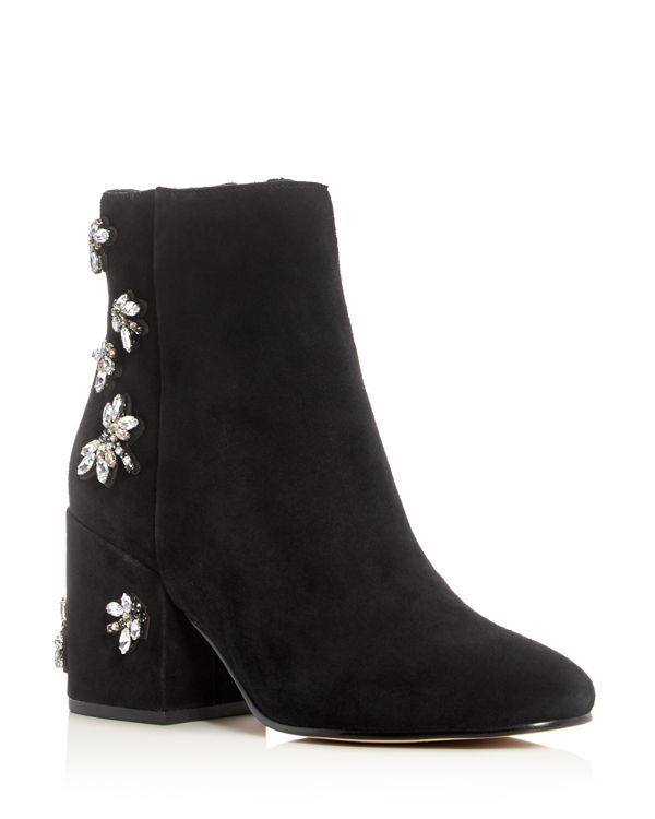 Sam Edelman Taye Embellished Block Heel Booties