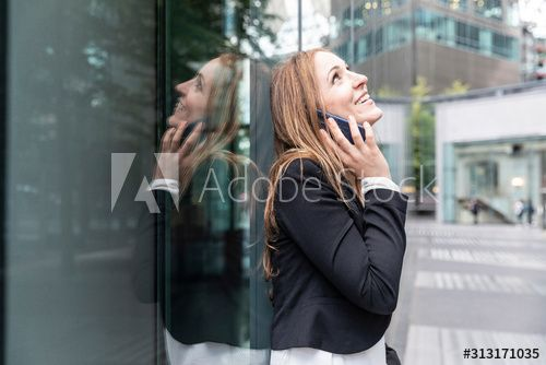 Smiling businesswoman on the phone in the city , #affiliate, #businesswoman, #Smiling, #city, #phone #Ad