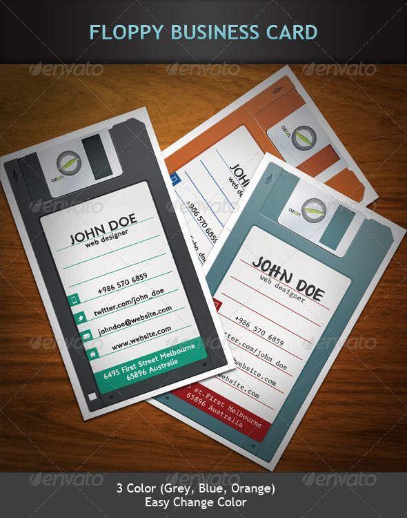 Floppy business card web company business cards and print templates floppy business card reheart Images