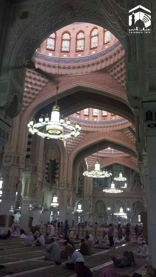 Serene moments ubder the three domes  - masjid al haram