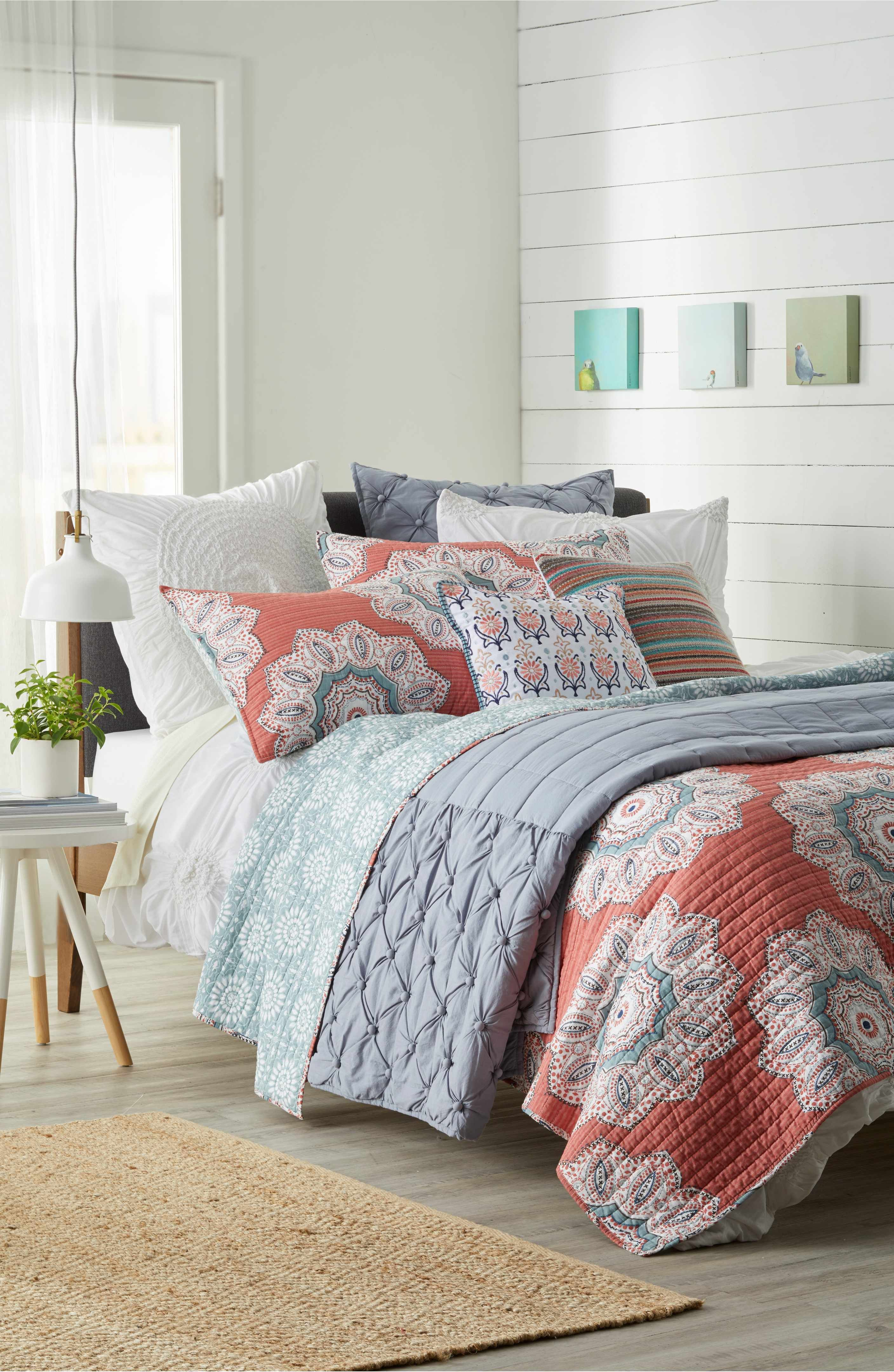 Joanna gaines master bedroom bedding  Main Image  Levtex Aubrie Reversible Quilt  Making a house a home