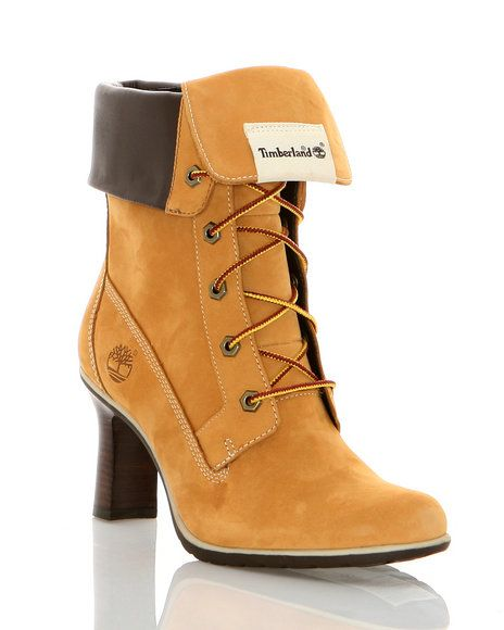 0c15e8f3e61 Women Timberland High Heel Boots | fold down heeled boot the fold ...