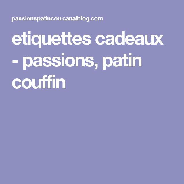 etiquettes cadeaux - passions, patin couffin