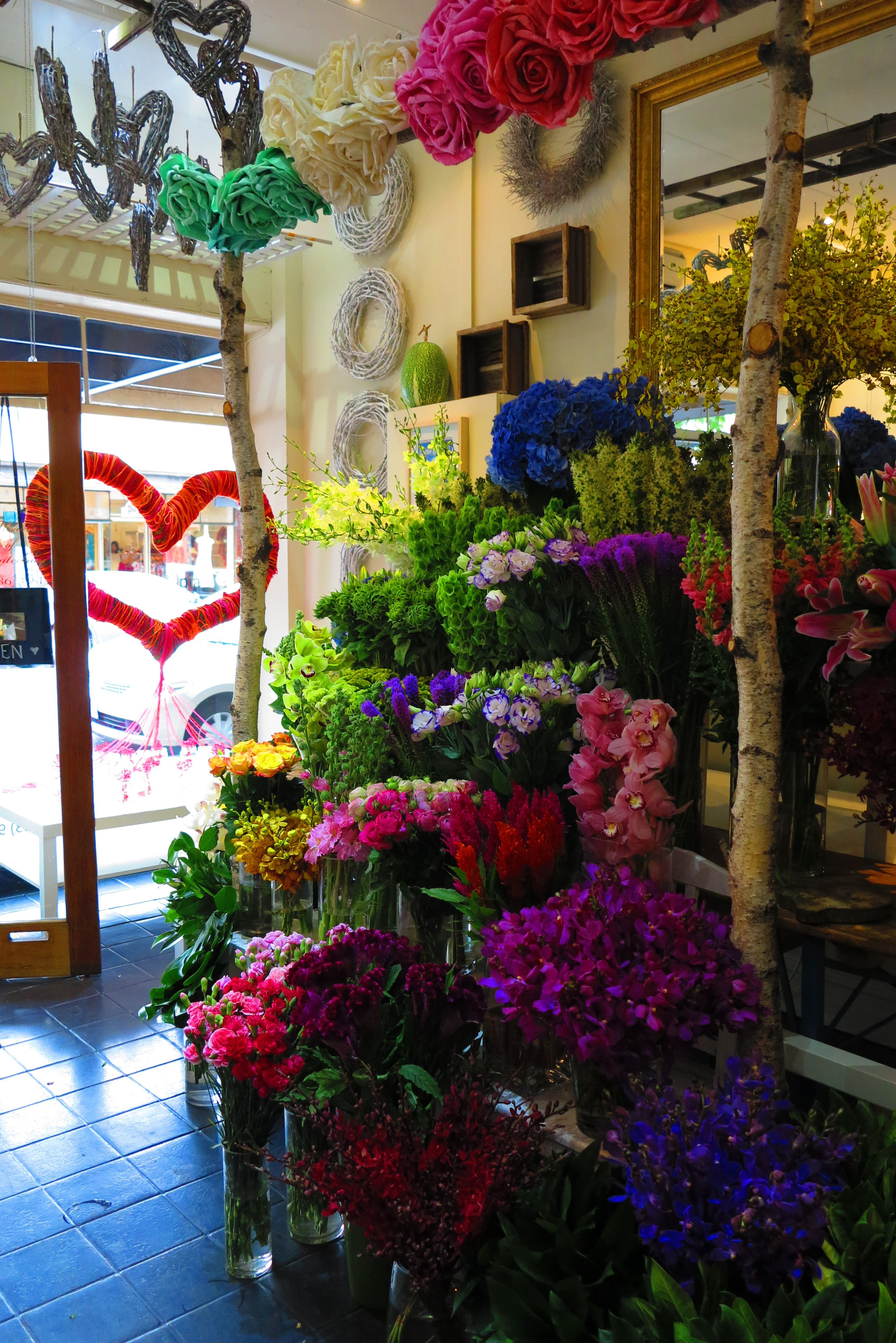 Flowers of canterbury shop display florist shop in