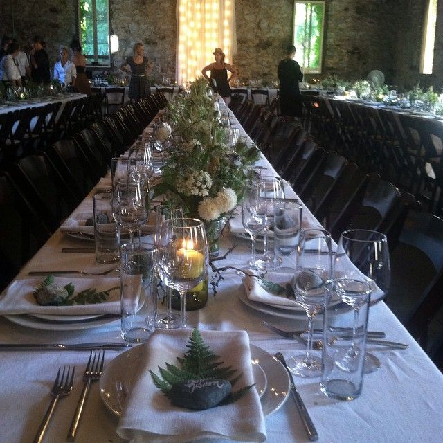 Setting up for dinner with @gold.dust.erin and @rootsreclaimed at The Miners Foundry in Nevada City. Happy wedding night to Traci and Julian! #minersfoundry #farmerflorist