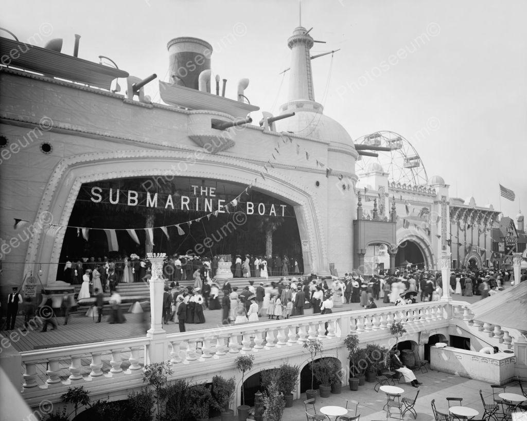 Araceli Playa Porno Iputas submarine boat ride coney island vintage 8x10 reprint of old