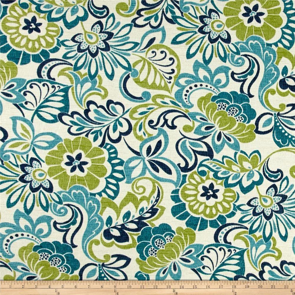 Discount outdoor fabric by the yard - Bryant Indoor Outdoor Bloomfield Garden Zoe Mallard Discount Designer Fabric Fabric Com