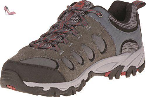Merrell Ridgepass Bolt, Chaussures de Randonnée Basses Homme, Gris (Granite/Red  Ochre