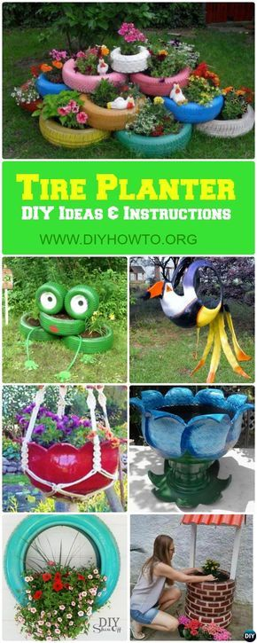 DIY Recycled Tire Planter Ideas for Your Garden #gartenrecycling