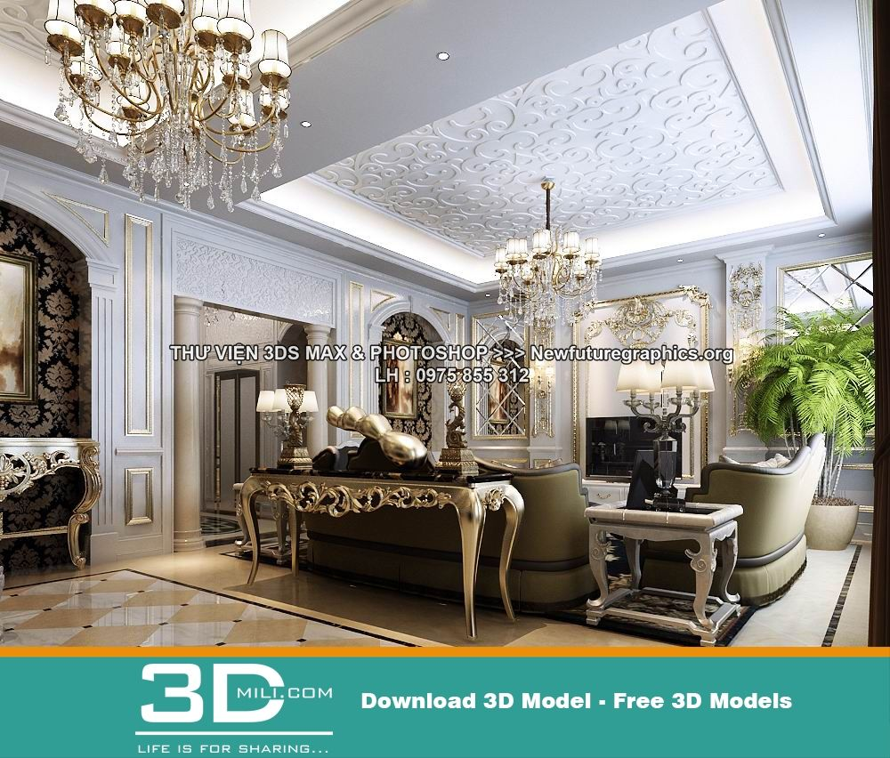 105 Classic Living Room 3dsmax File Free Download With Images