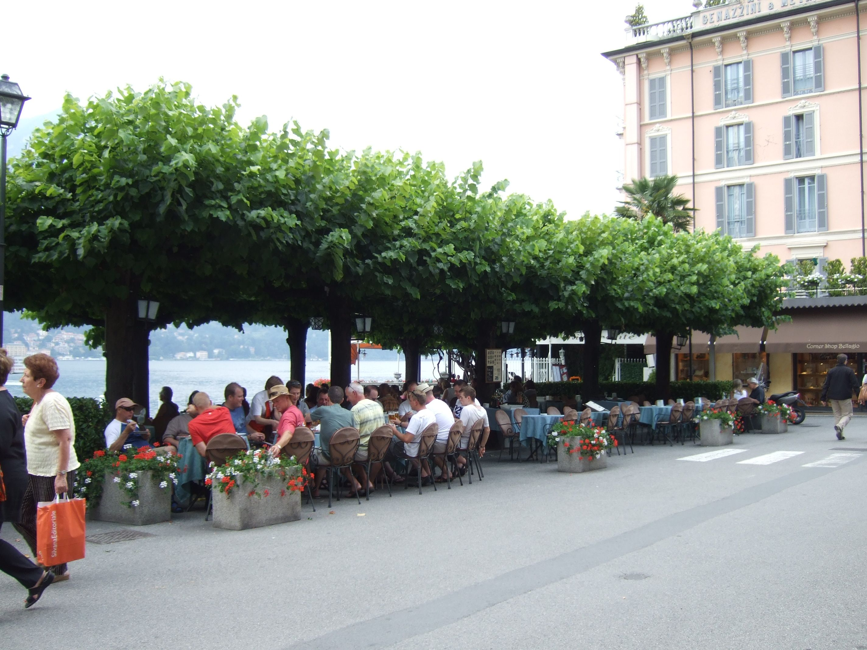 Outdoor Restaurant In Bellagio Italy On Lake Como