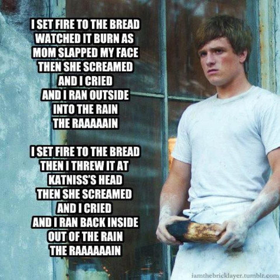 Hunger game songs that make fun of him being a bread boy always ...