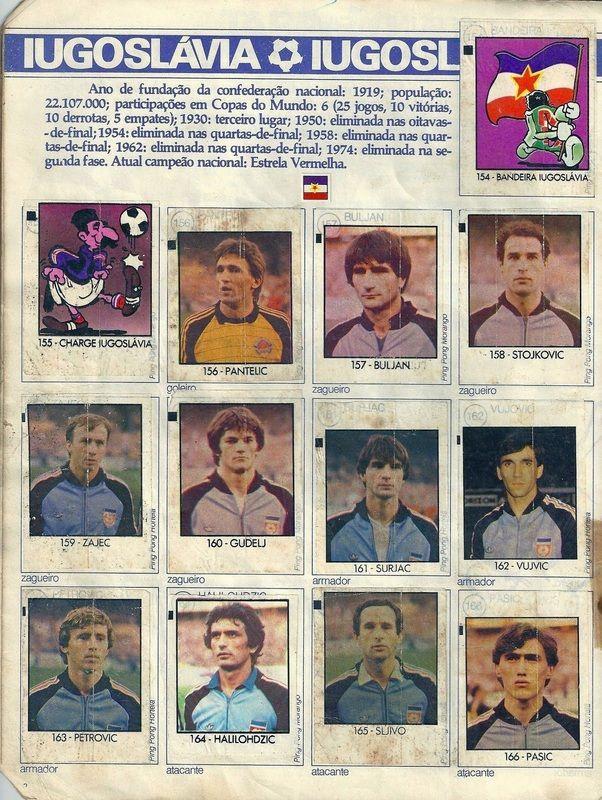 Iugoslávia - Copa do Mundo Espanha 1982