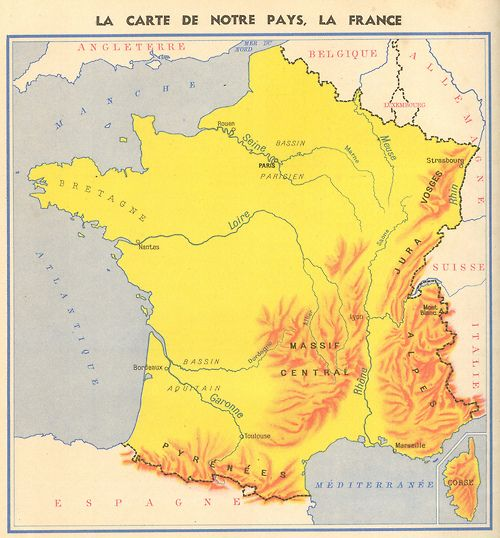 Mountains Of France Map.Mountains In France 1949 Maps Diagrams And Graphics France Map