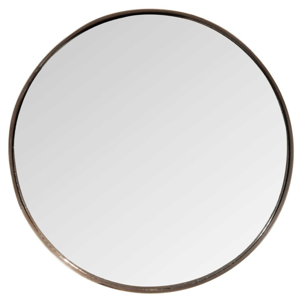 miroir rond en m tal cuivr maisons du monde chambre metal mirror bathroom et. Black Bedroom Furniture Sets. Home Design Ideas
