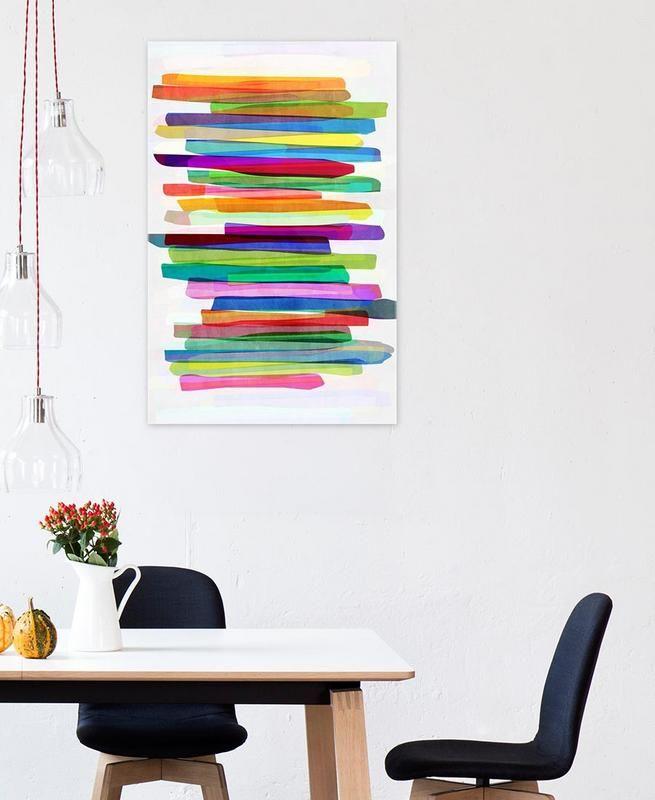 Colorful Stripes 1 Als Acrylglasbild Von Mareike B 246 Hmer