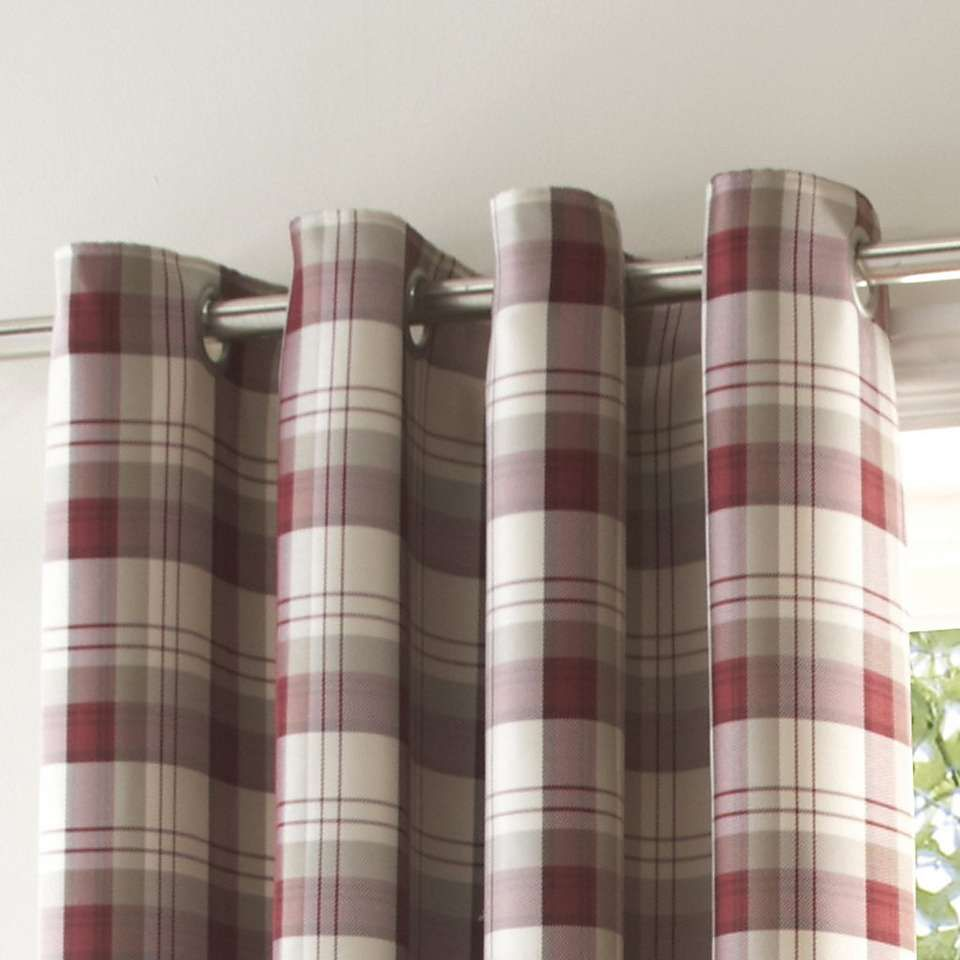 Balmoral Red Lined Eyelet Curtains Dunelm Living Room