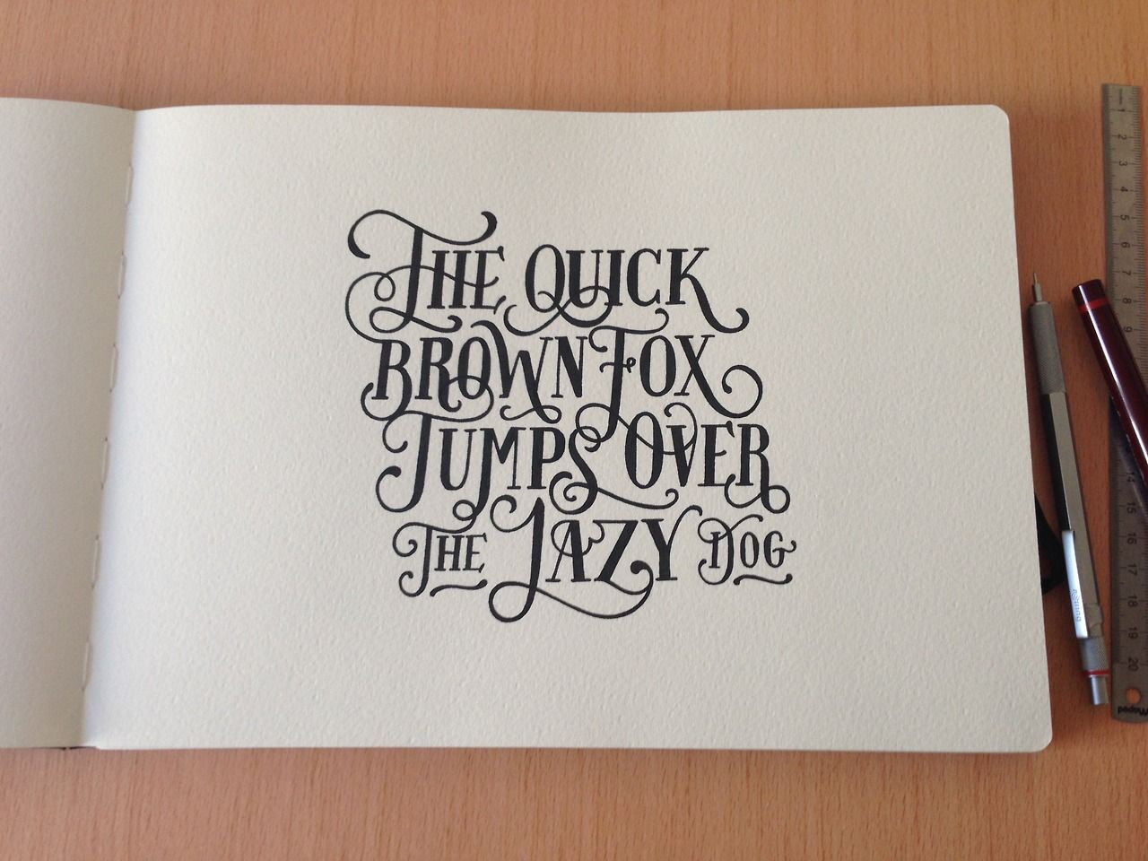 Typography graphic design artists on tumblr hand lettering the fox