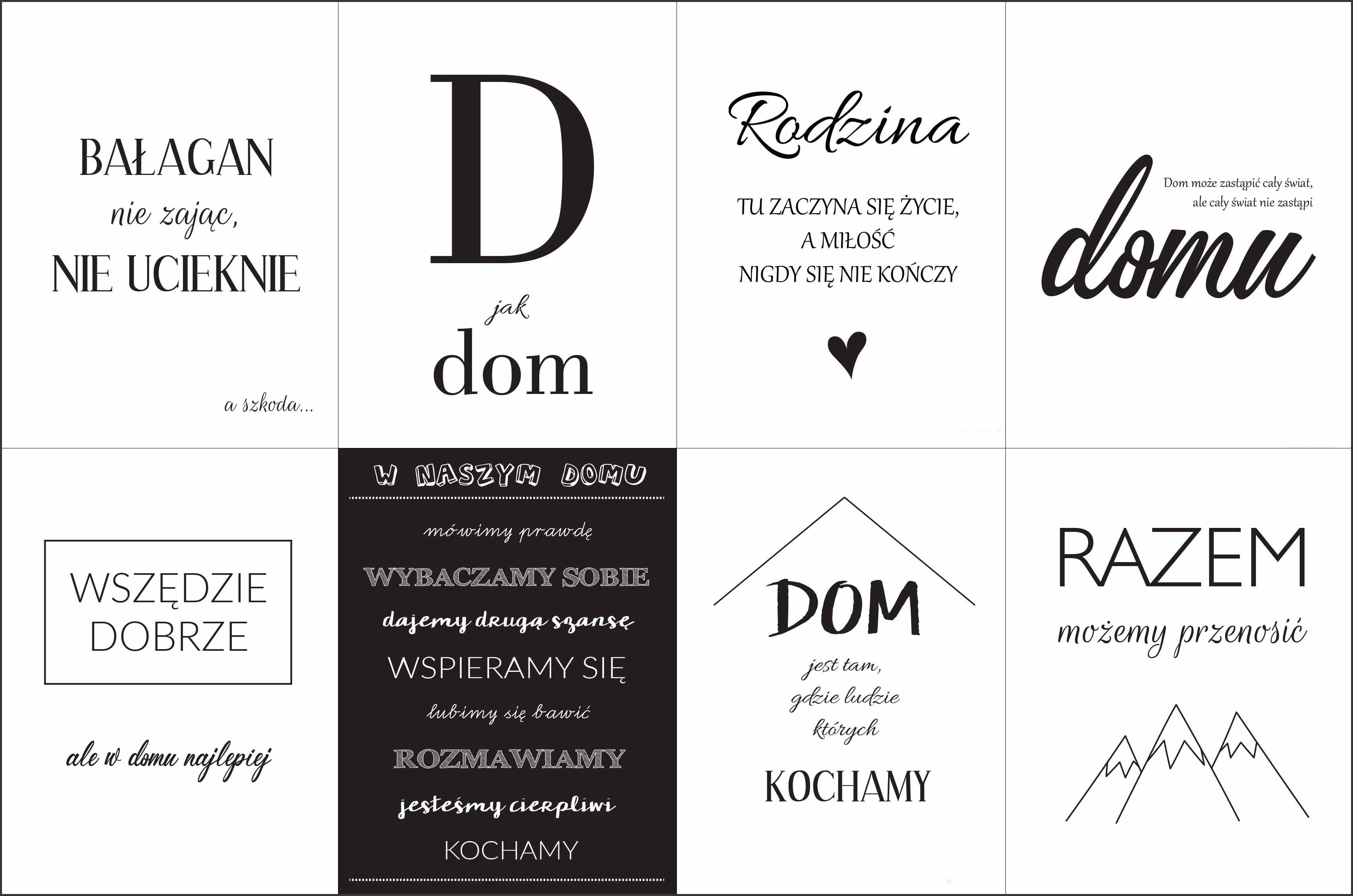 Plakaty Do Domu Po Polsku Typography Plakat Grafika I