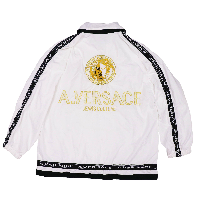 ef0f62f72 Vintage A.VERSACE Big logo Windbreaker Jacket by HITZSHOP on Etsy ...