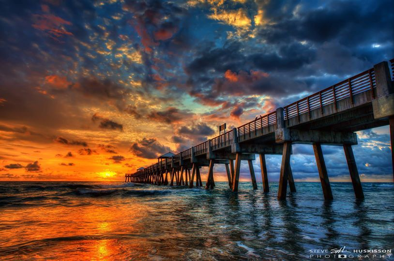 Steve huskisson photography dramatic seascape at juno for Juno beach fishing pier