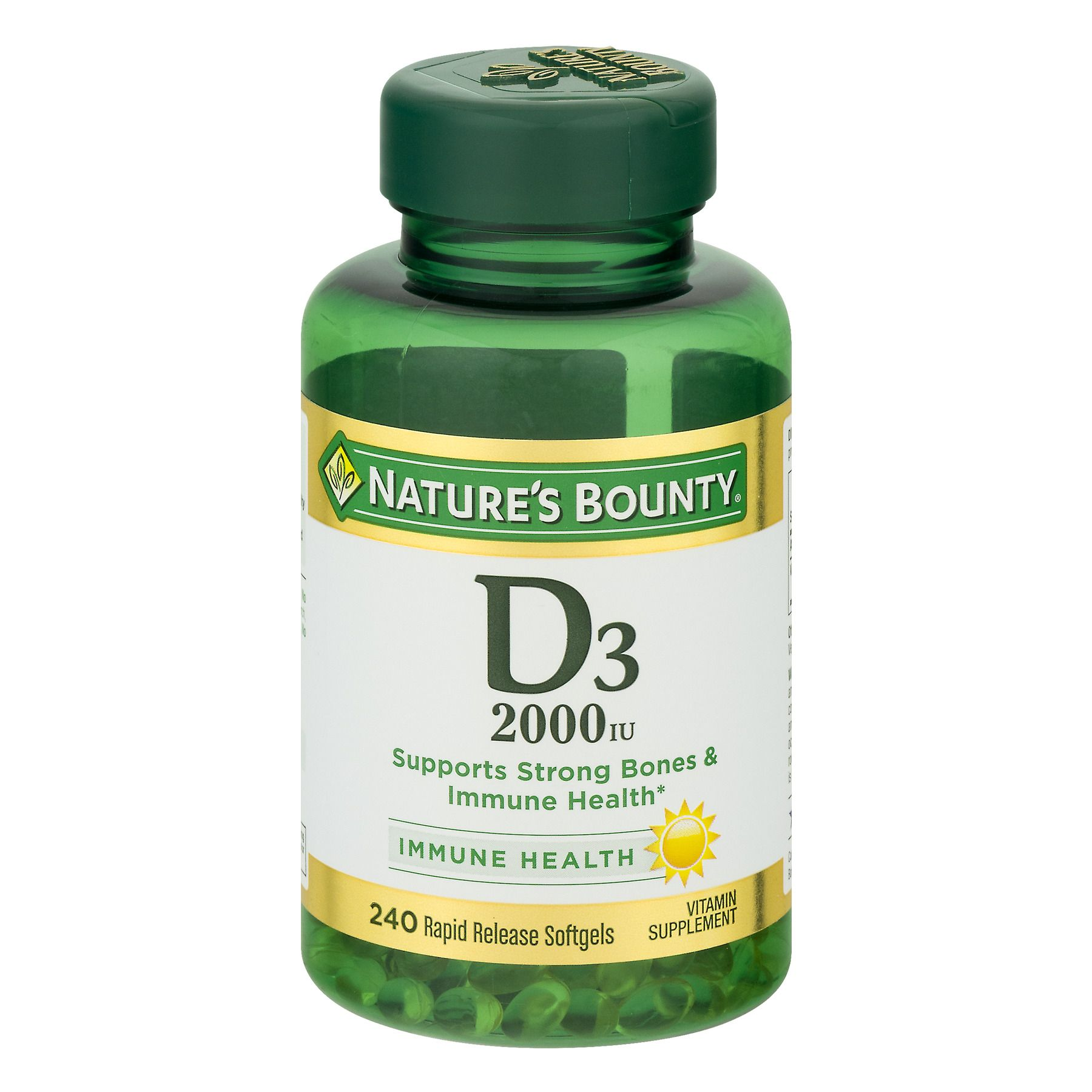 Nature S Bounty Vitamin D3 Softgels 2000iu 240ct Walmart Com Nature S Bounty Vitamins Vitamin D3