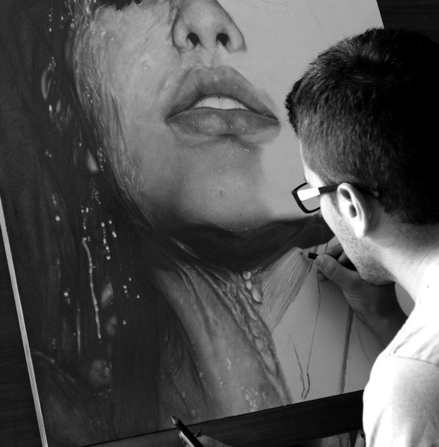 This Is Not A Photograph  It is a pencil drawing by Diego Fazio