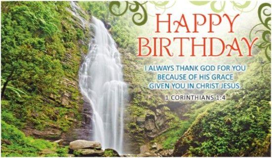 Birthday Waterfall Christian Birthday Cards Christian Birthday