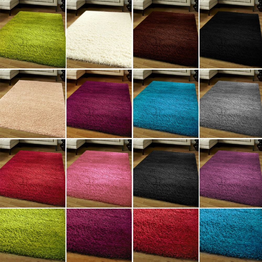 Small Large Size Thick Plain Soft Gy Rug Non Shed Pile Modern Carpet Rugs