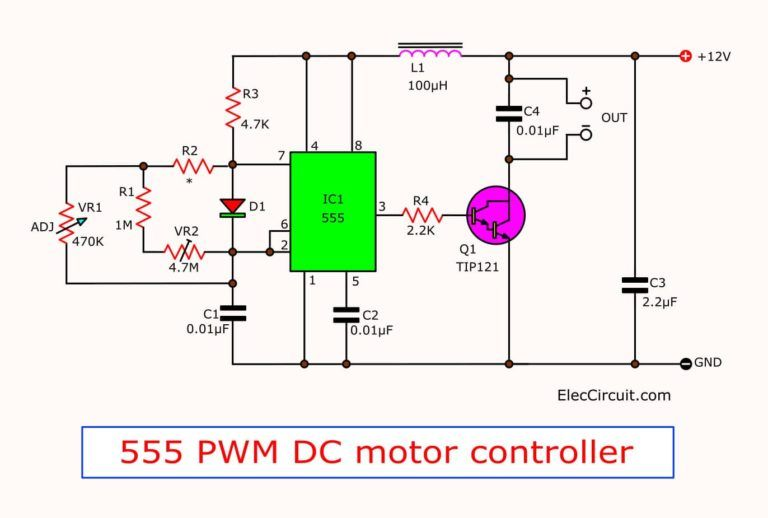 555 Pwm Led Dimmer Circuit Diagram Power Battery Saving Eleccircuit Com Circuit Diagram Circuit Electronic Circuit Projects