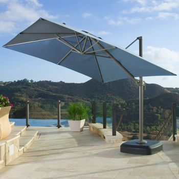 Costco Portofino 10ft Resort Umbrella In Newport Blue Pergola